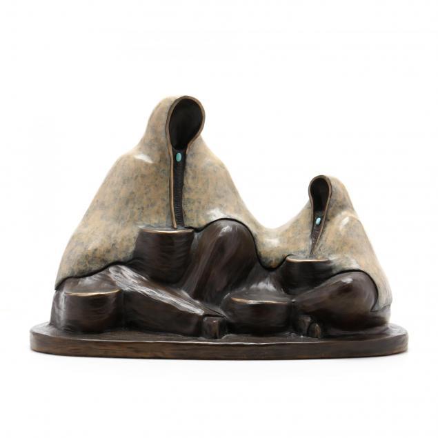 felicia-am-20th-century-i-my-helper-i-bronze-sculpture