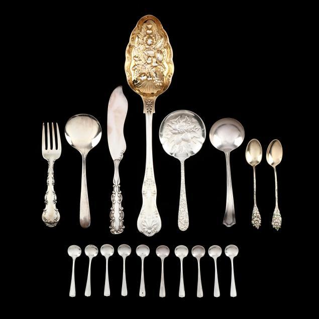 assorted-sterling-silver-silverplate-flatware