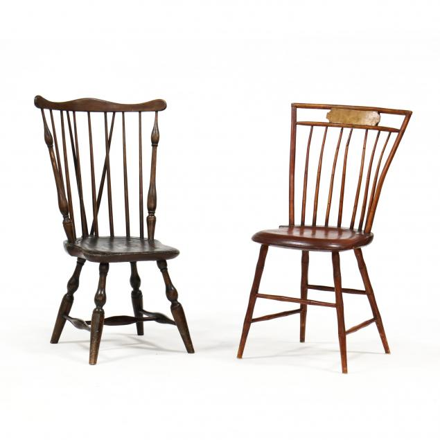 two-american-windsor-side-chairs