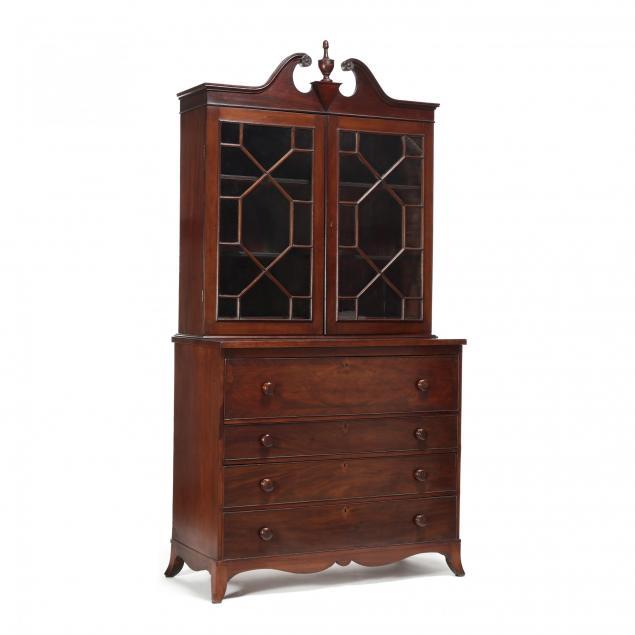 federal-mahogany-secretary-bookcase
