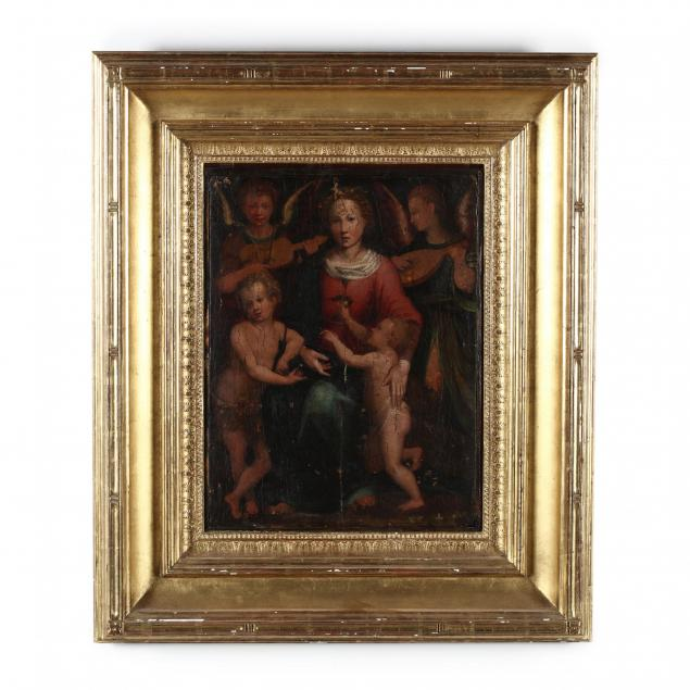 circle-of-raphael-1483-1520-the-madonna-and-child-with-the-infant-saint-john-the-baptist-and-two-angels