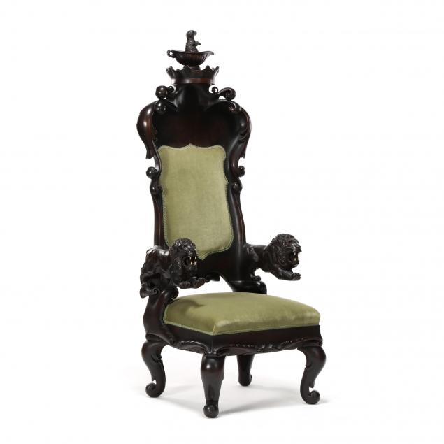 continental-carved-mahogany-baroque-style-throne-chair