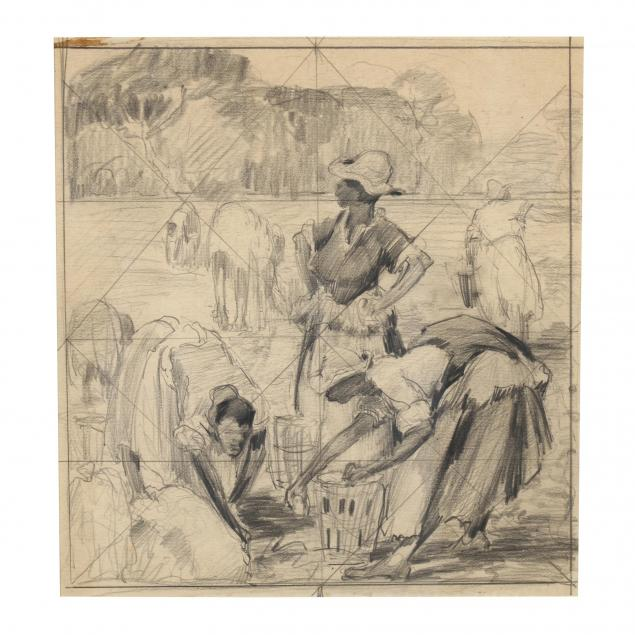 alfred-hutty-sc-ny-1877-1954-i-potato-pickers-in-the-low-country-i-pencil-drawing