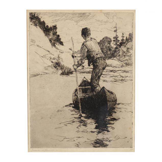 frank-w-benson-ma-1862-1951-i-canoeman-i