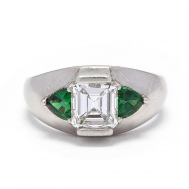 platinum-diamond-and-tsavorite-garnet-ring