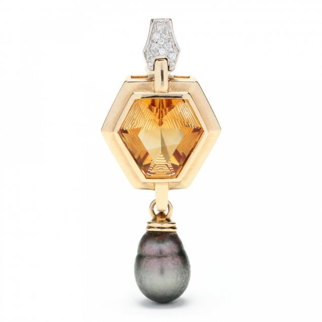 14kt-gold-citrine-diamond-and-baroque-tahitian-pearl-pendant