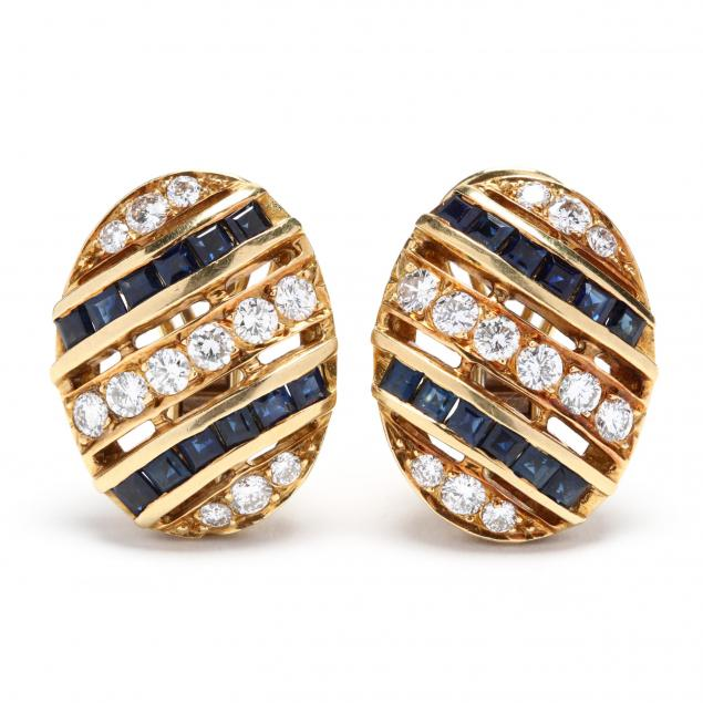 18kt-gold-diamond-and-sapphire-earrings