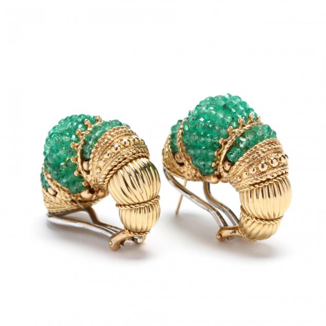 18kt-gold-and-emerald-earrings-signed