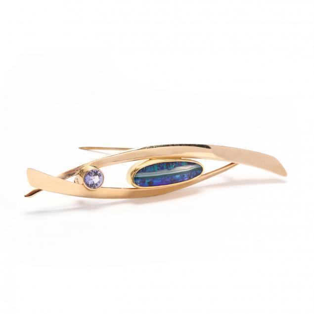 14kt-gold-opal-and-purple-zircon-brooch-ben-dyer