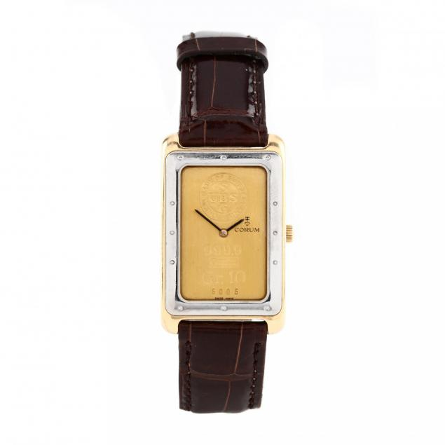 gent-s-large-gold-swiss-10-gram-ingot-watch-corum