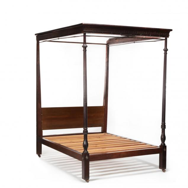 english-chippendale-carved-mahogany-tall-post-tester-bed