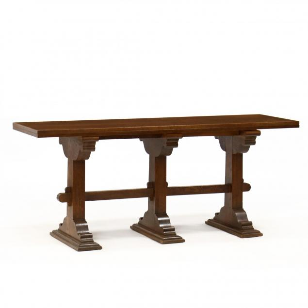 drexel-william-and-mary-style-trestle-table