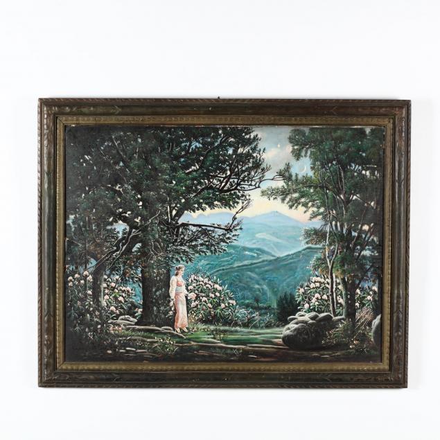 mckendree-robbins-long-nc-1888-1976-woman-before-mountain-vista