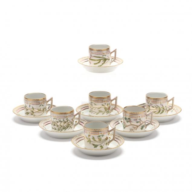 a-selection-of-14-royal-copenhagen-flora-danica-cups-saucers