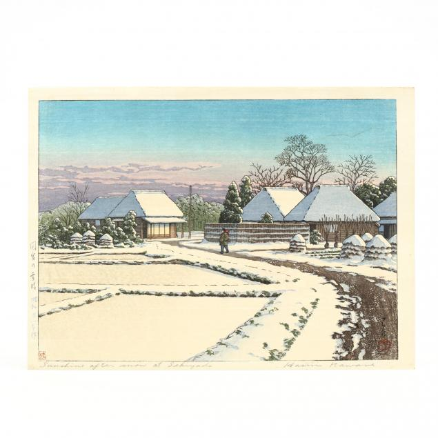 hasui-kawase-japanese-1883-1957-i-sunshine-after-the-snow-at-sekiyado-i