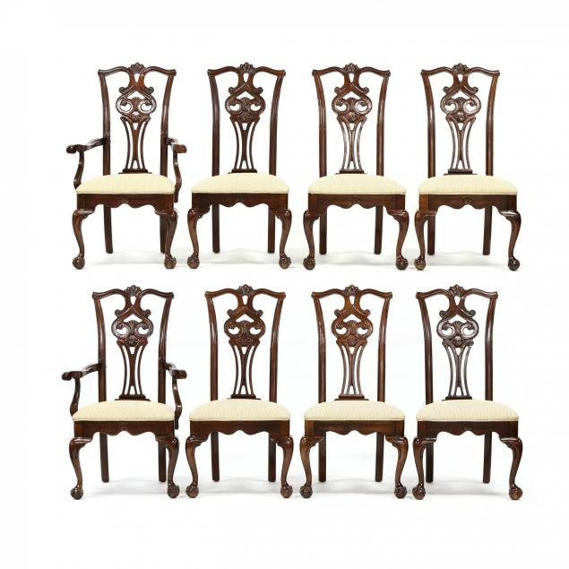 american-drew-set-of-eight-chippendale-style-cherry-dining-chairs