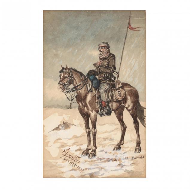 f-luis-mora-ny-ct-1874-1940-portrait-of-a-cavalryman