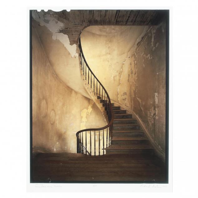 richard-sexton-la-fl-born-1954-i-stairway-ashland-belle-helen-plantation-i-with-signed-book