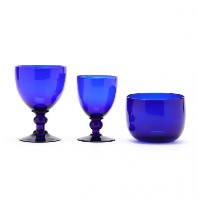 18-pieces-of-antique-cobalt-bristol-glassware