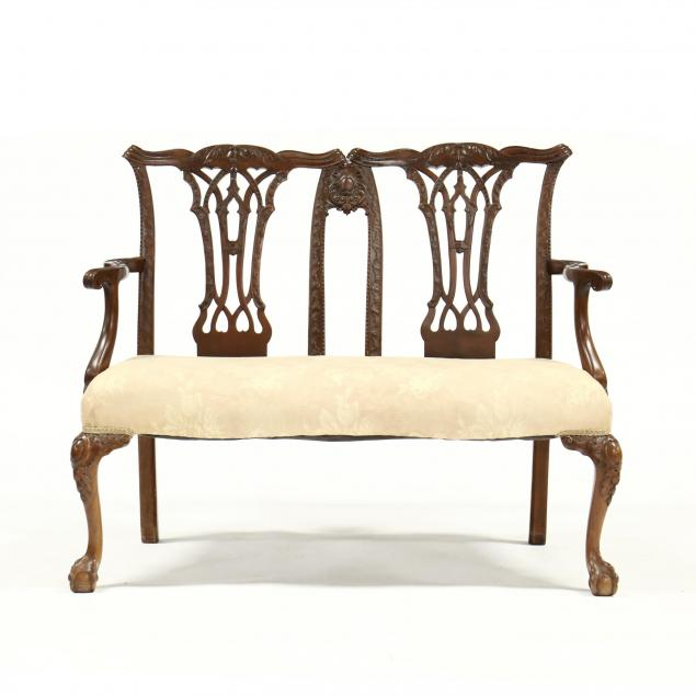 english-chippendale-style-mahogany-settee