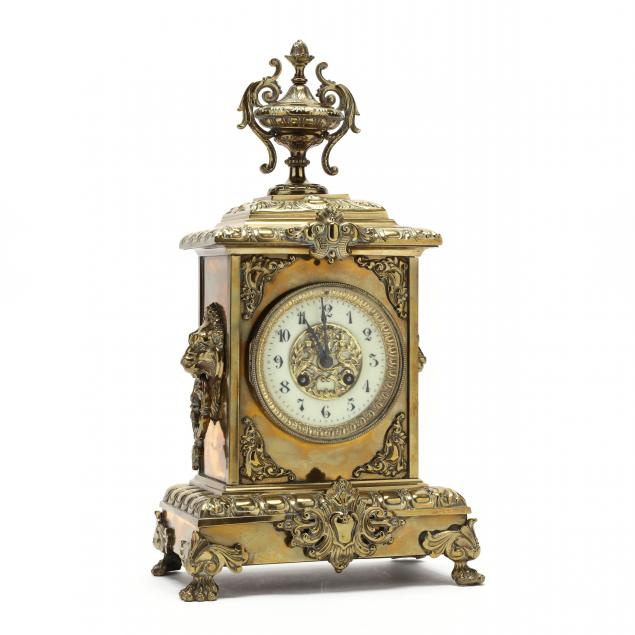french-gilt-brass-mantel-clock