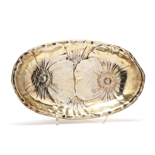 wallace-sterling-silver-gilt-bread-dish-with-poppy-design