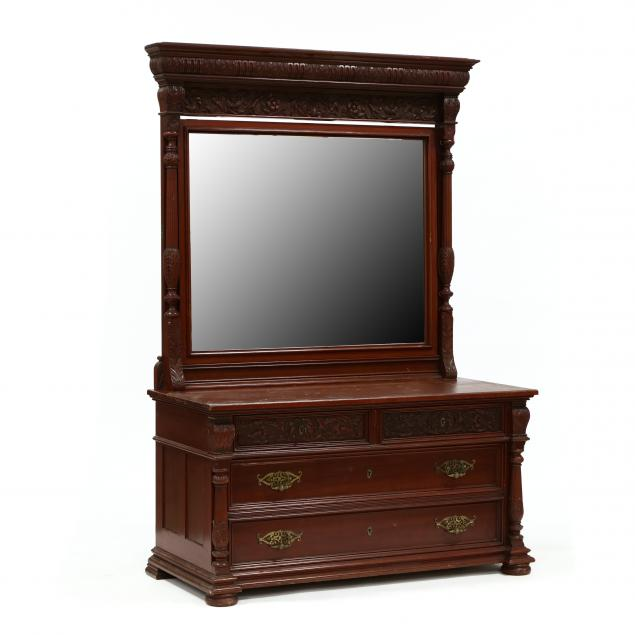 att-r-j-horner-co-carved-mahogany-chest-with-mirror