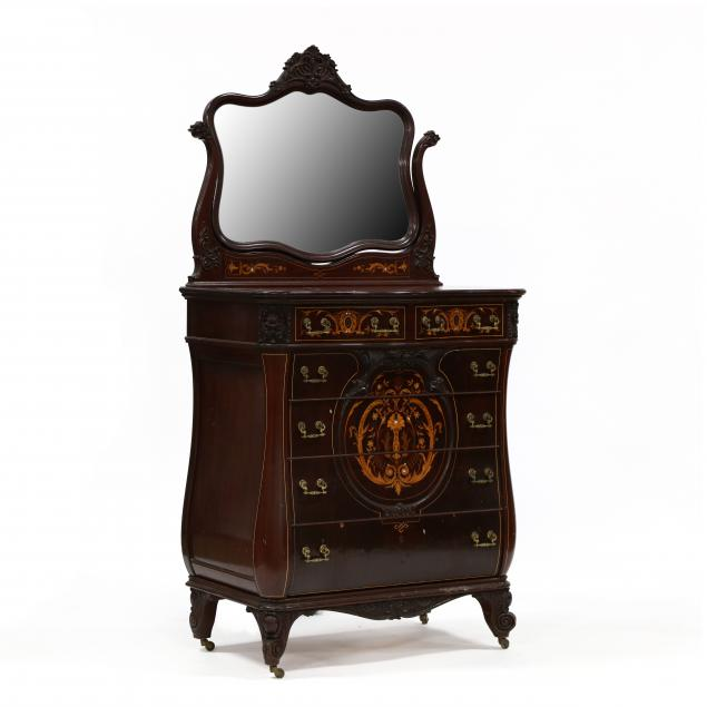 labeled-r-j-horner-inlaid-mahogany-semi-tall-chest-with-mirror