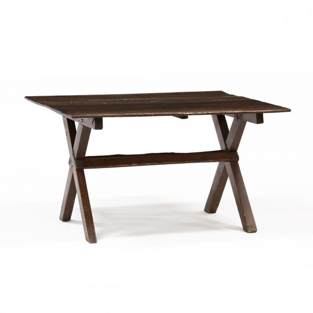 southern-yellow-pine-sawbuck-table