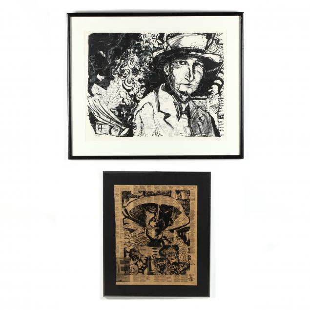 two-modern-mixed-media-prints