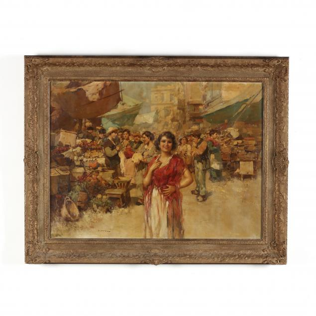giuseppe-pitto-italian-1857-1928-market-scene-with-smiling-woman