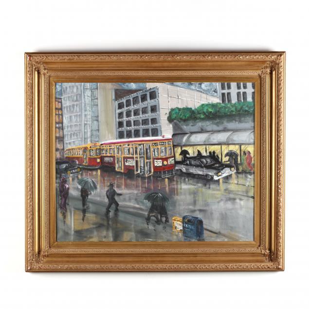 tony-deuters-british-american-b-1931-city-street-scene