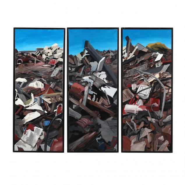 stephen-popadich-nc-rubble-heap-triptych