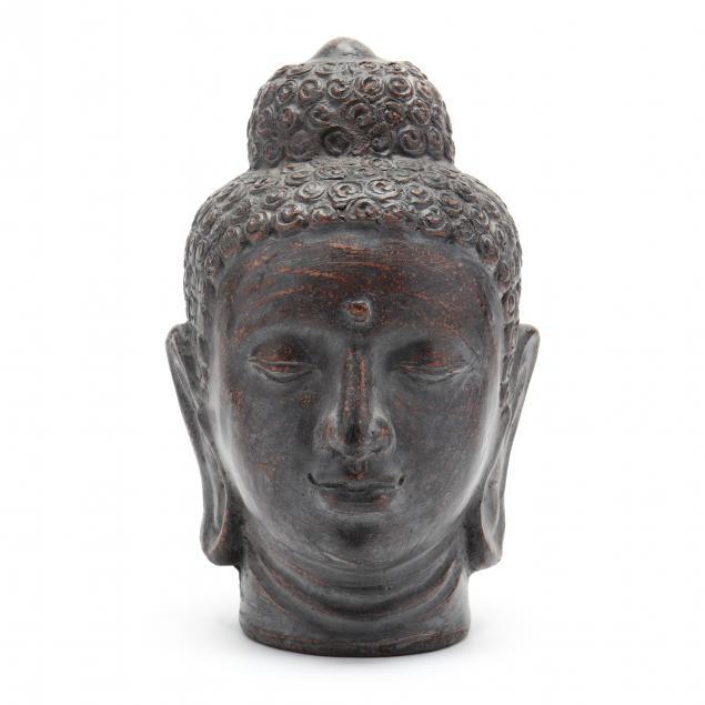 a-large-buddha-head
