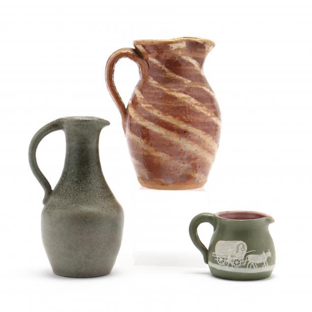 three-western-north-carolina-pottery-pieces