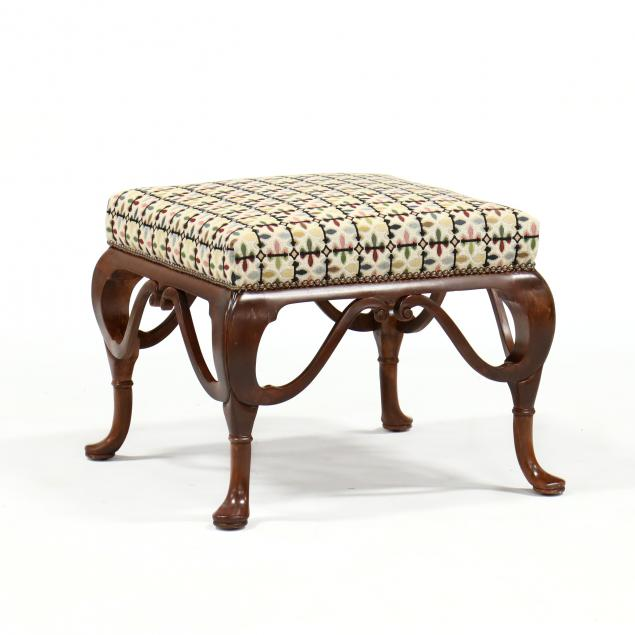 william-switzer-queen-anne-style-upholstered-ottoman