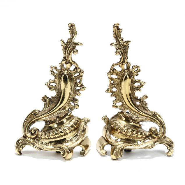 pair-of-french-rococo-style-brass-chenets