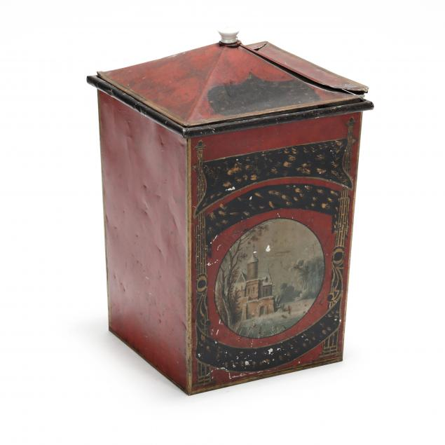large-antique-toleware-lidded-canister