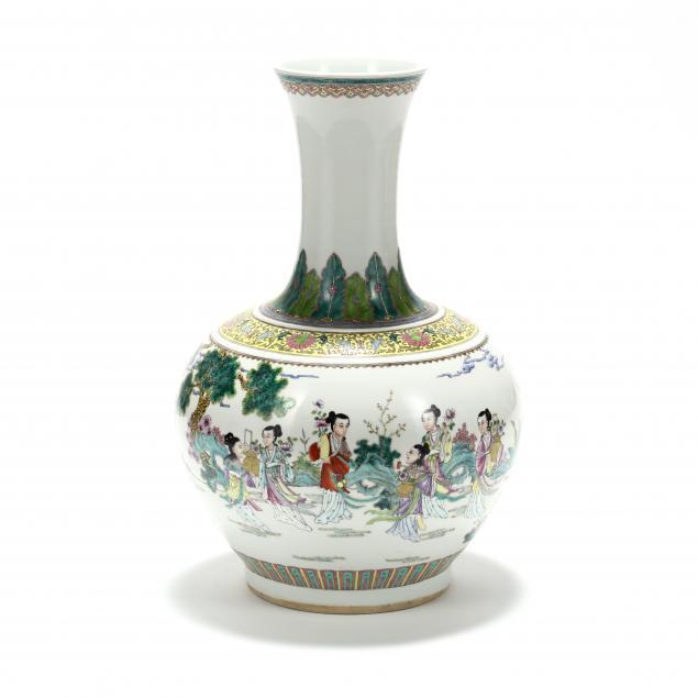 a-large-chinese-porcelain-famille-rose-vase