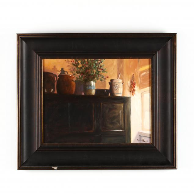 ronald-lewis-al-interior-still-life-with-pottery