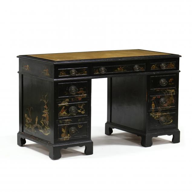 vintage-chinoiserie-kneehole-desk