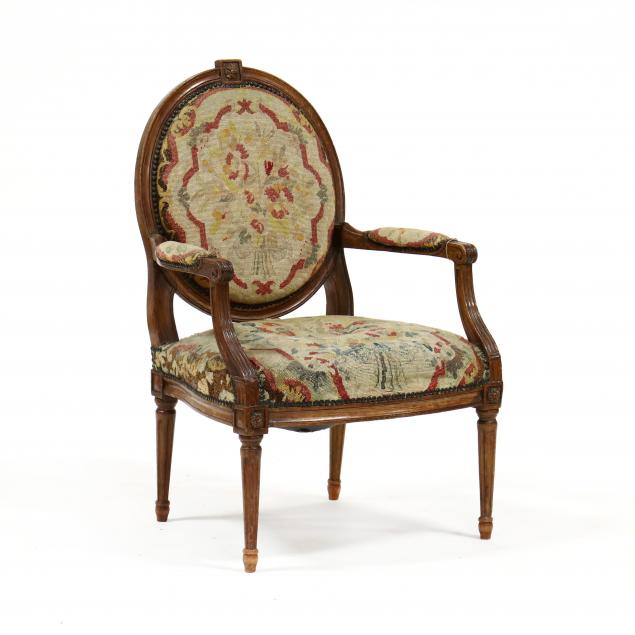 louis-xvi-style-carved-walnut-fauteuil