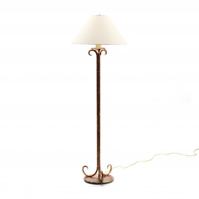 designer-gilt-iron-floor-lamp