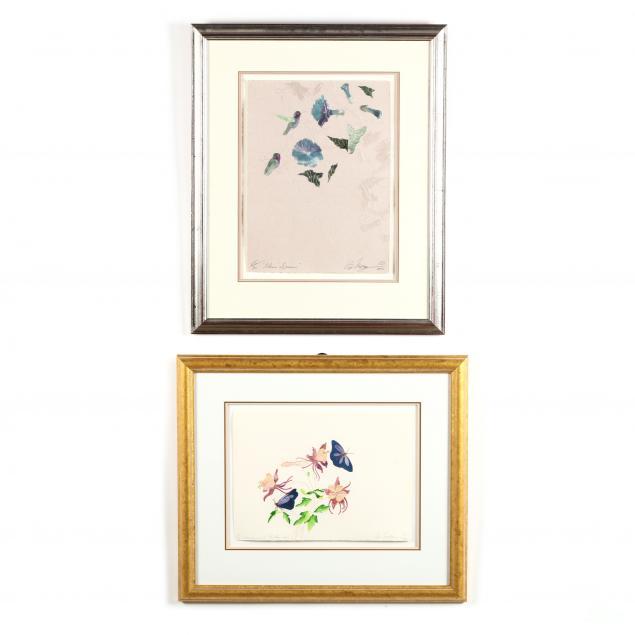 ed-morgan-nm-mo-1943-2014-two-mixed-media-floral-prints