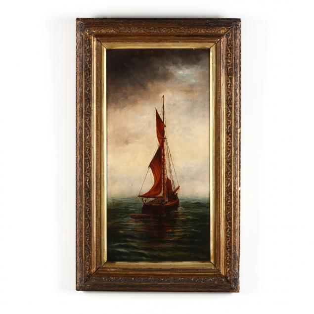antique-english-school-painting-of-a-sailing-ship