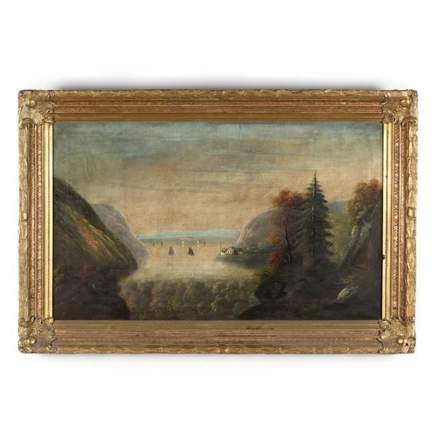antique-hudson-river-school-painting