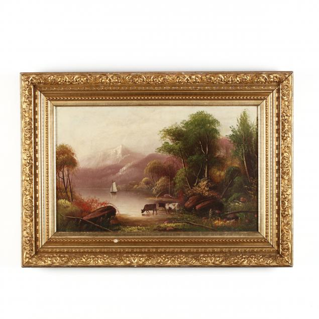 antique-landscape-painting-with-cows-drinking
