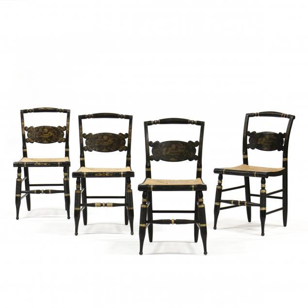 set-of-four-hitchcock-stencil-decorated-side-chairs