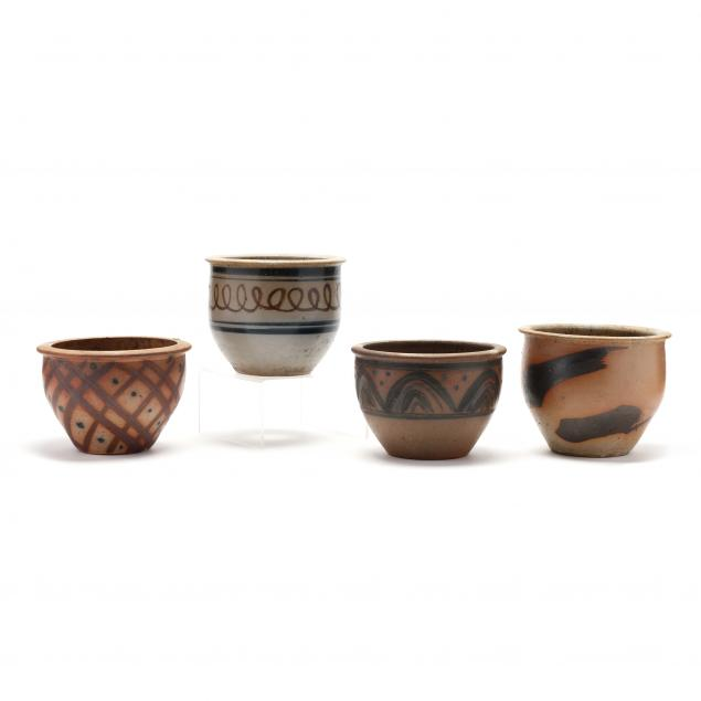 nc-pottery-mark-hewitt-pottery-four-small-jardinere