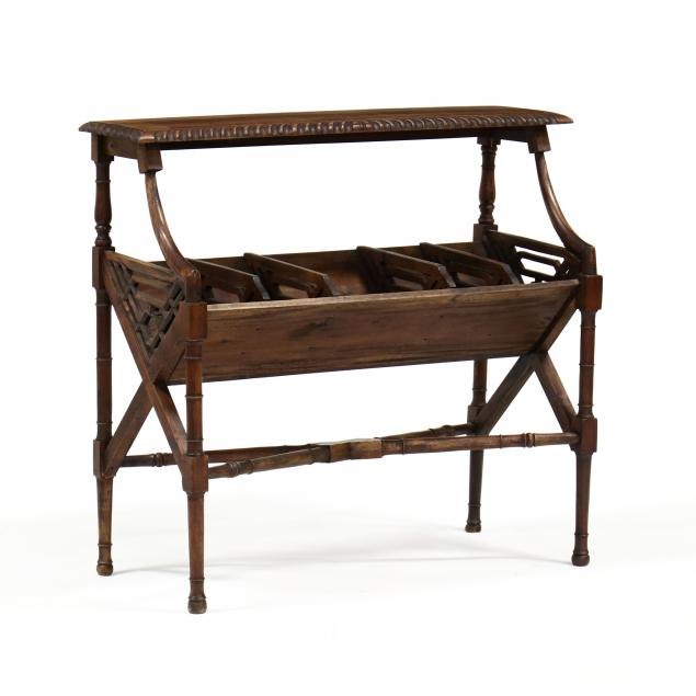chinese-chippendale-style-mahogany-bookstand
